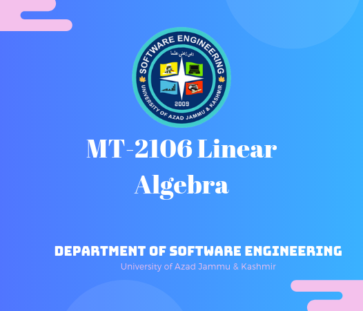 MT-2106 Linear Algebra